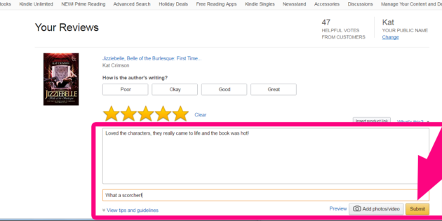 amazon review: how to leave a review on amazon.com